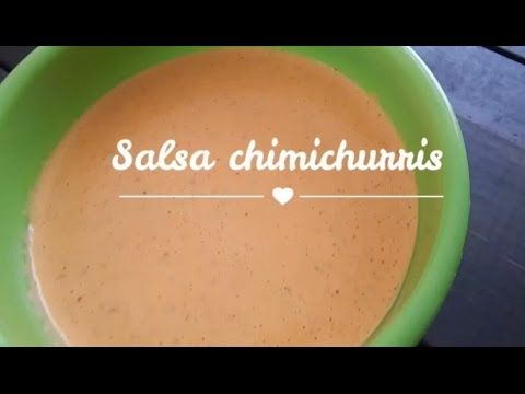 Salsa chimichurris para pizza