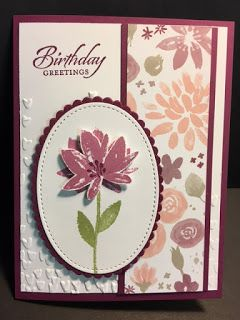 My Creative Corner!: Avant-Garden, Birthday Card, 2017 Sale a Bration, Stampin' Up!, Rubber Stamping, Handmade Cards