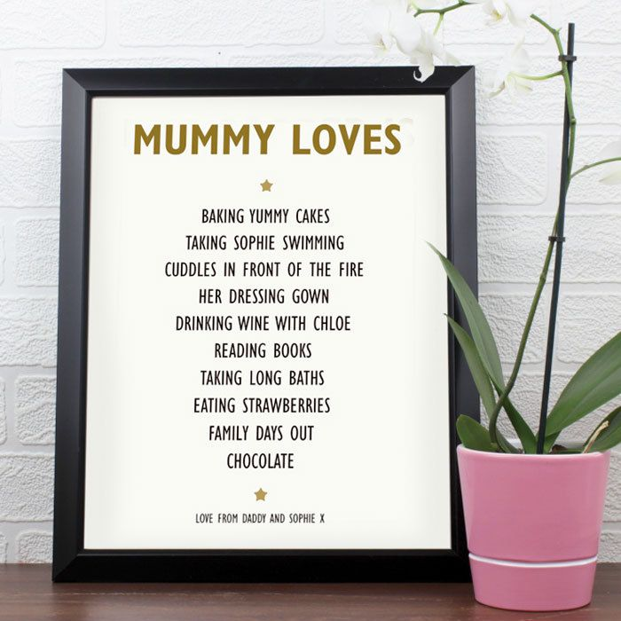 The Kitchen Gift Company - Personalised List  of Love Framed Poster, £15.95 (http://www.thekitchengiftco.com/personalised-list-of-love-framed-poster/)