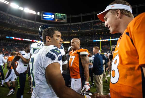 Russell Wilson recalls his passing past with Peyton Manning