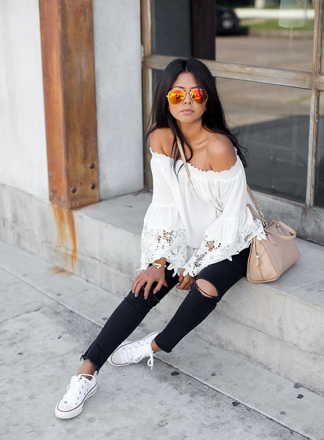 The Coolest Ways to Style Classic White Sneakers: Your shoe collection continues to grow every season, but the style you've always held onto is the classic white sneaker.