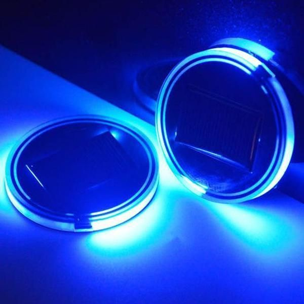 Solar Power LED Car Cup Mat (2 in 1 Set)