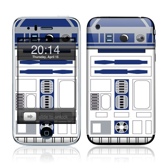 R2D2 3G Decal with matching wall paper $9.95