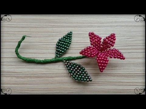 How to make a flower with beads - YouTube