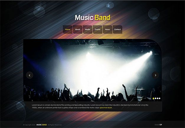 MUSIC BAND RESPONSIVE WEBSITE TEMPLATE