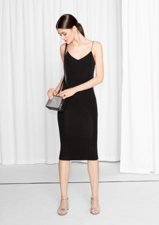 & Other Stories image 1 of Spaghetti Strap Dress in Black