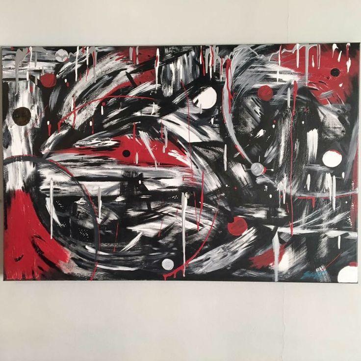 Tableau à l'acrylique sur toile, pâtes, gel, vernis #artwork #art #abstrait #abstractart #artiste #peinture #abstrait