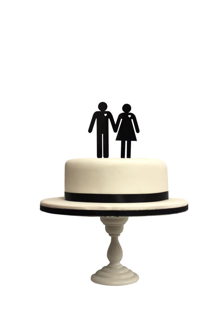 Silhouette of Iconic boy and girl Laser Cut Wedding Cake Topper UK MADE by Funky Laser by FunkyLaser on Etsy