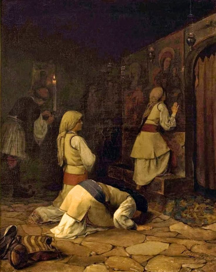 Theodoros Ralli (Greek, 1852-1909). Praying In a Greek Church, Monparnas