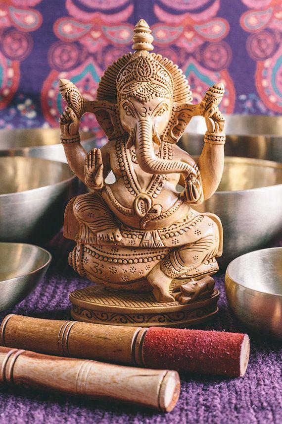 Ganesha Tibetan Bowls Meditation Photography Color by YinNature