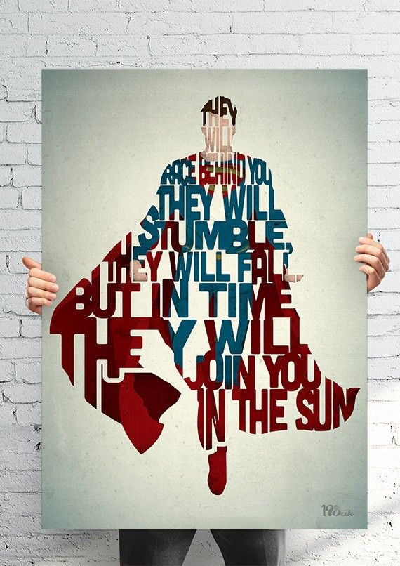 Amazing Pop Culture Typography Posters [Superman]