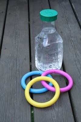 School Fair Idea - dive ring and water bottle hoopla