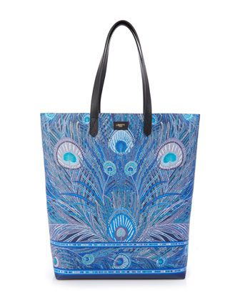 Hera+Peacock+Canvas+Tote+Bag+by+Liberty+London+at+Neiman+Marcus.