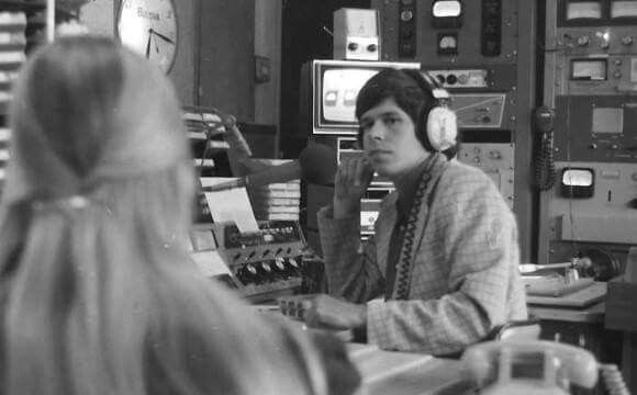 1972 -27 y. o. Art  Bell with Maureen McCormick who played Marcia Brady on the Brady Bunch.
