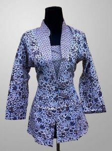 Blus Batik Wanita Kerja Terbaru Motif Kembang Kode KM 145 Kirim Pesan ke 082134923704