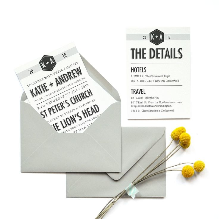 422 best Minimalist Personalised Wedding Stationery | Banner ...