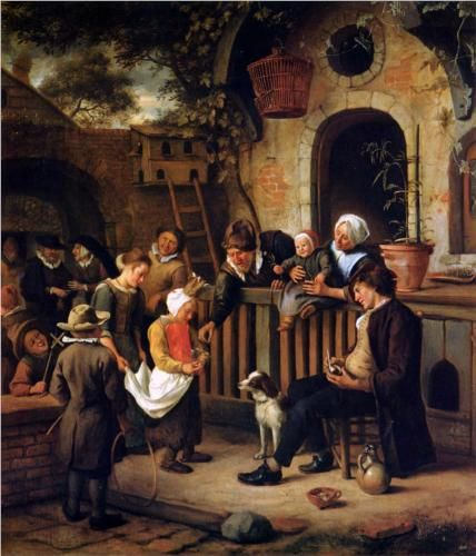 "Jan Steen, ""Pinxterblom"", Little collector, ca. 1663/65 - Petit Palais Musée des Beaux Arts de la Ville de Paris"