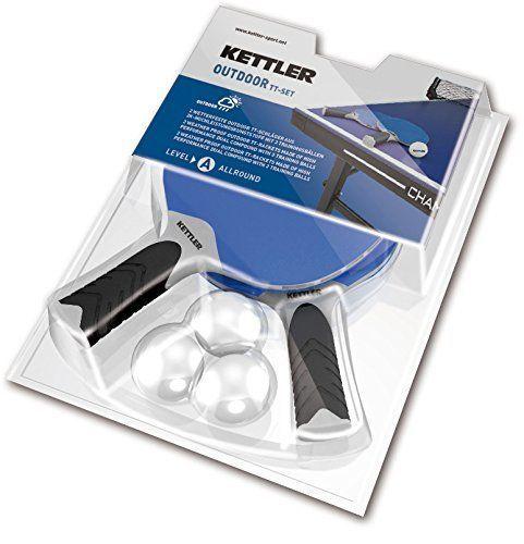 Kettler Halo 5.0 Outdoor Table Tennis 2 Racquet Set with 3 Table Tennis Balls #tennismotivation