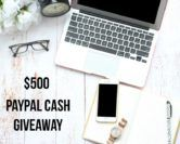$500 Cash Giveaway  Open to: United States Canada Other Location Ending on: 11/10/2017 Enter for a chance to win $500 in PayPal cash just in time for the holidays. Enter this Giveaway at The Styled Fox  Enter the $500 Cash Giveaway on Giveaway Promote.