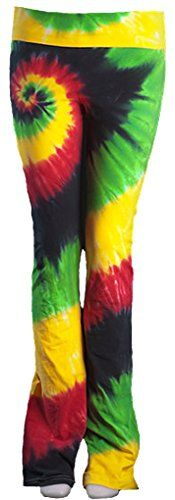 Ladies Rasta Colors Tie Dye Pants Small ** Check out this great product.