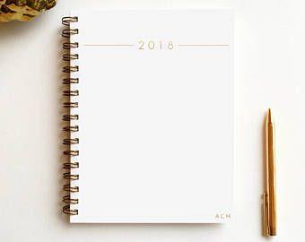2018 wire monogram planner | 2018 journal | monogram journal | minimalist journal | desktop planner | travel journal | 2018 planner | diary