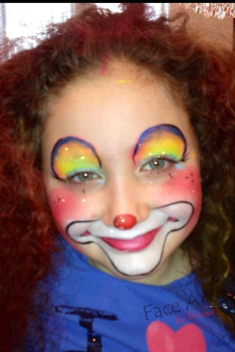 25 best ideas about clown face paint on pinterest girl for Face painting clowns for birthday parties