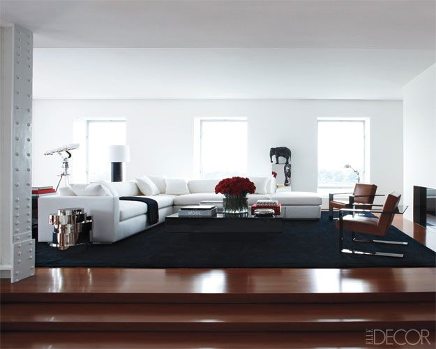 :: INTERIORS :: Ralph Lauren interior ... for the more serious interior yet timeless, I don't normally like red browns, but when combining with classic white & black and a hint of red ... this works #interiors