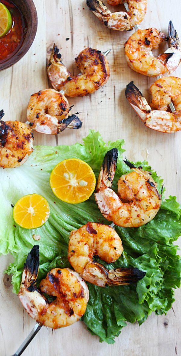 Lemongrass Grilled Shrimp by rasamalaysia: Delicious grilled shrimp with exotic lemongrass flavors, quick and easy. #Shrimip #Lemongrass #Easy #Fast #Healthy