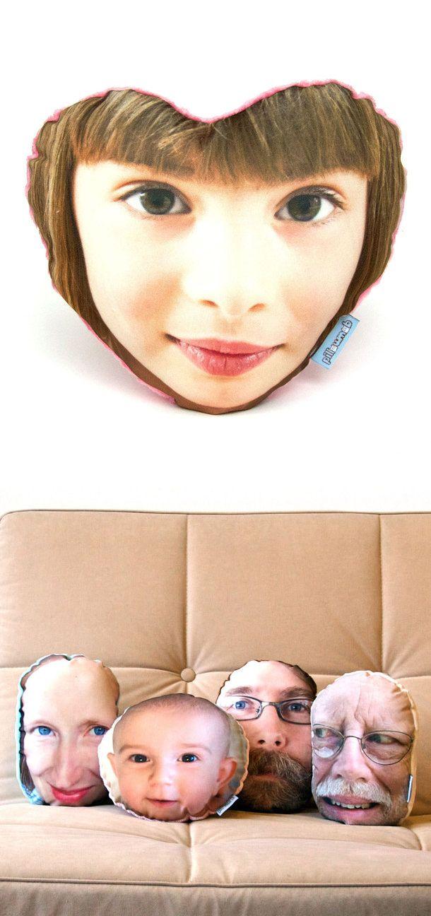 Face Pillows  - kinda creepy. @Katrina Ol @Bethany Olguin hahahahahahahah