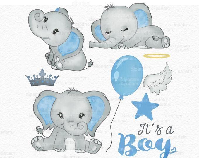 Baby Elephant Clip Art