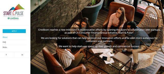 Start & Pulse  Startups Accelerator Credibom  apply until 30 NOV 2017