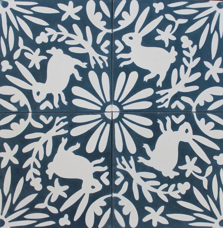 Eleanor Grosch Otomi Tile Flora Fauna One Color