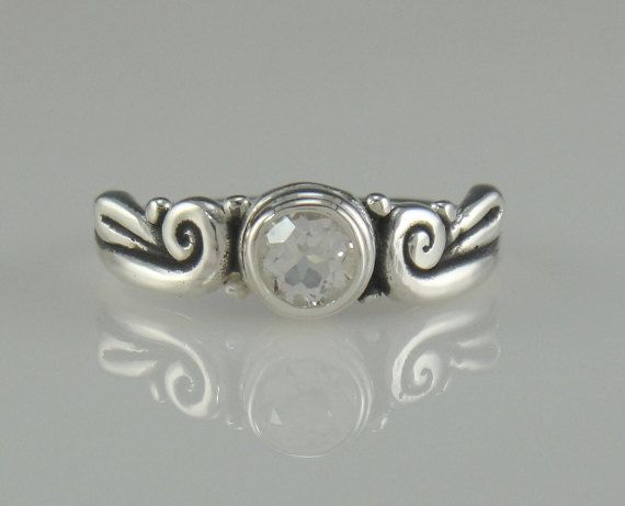 Sterling Silver White Topaz Ring- One of a Kind