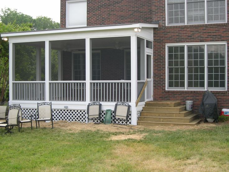 Screen porch shed roof google search home outdoor for Shed roof screened porch plans