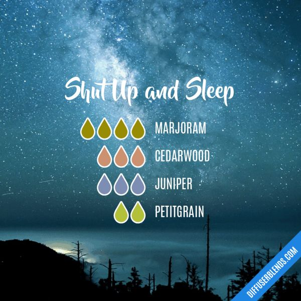 Shut Up and Sleep - Essential Oil Diffuser Blend