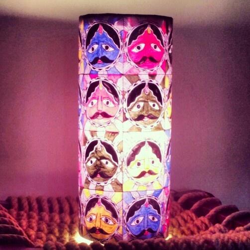 #handmade #paperlamps Find details at www.thebangaloresnob.wordpress.com | The Bangalore Snob