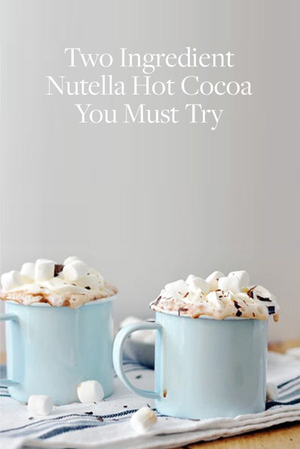 You Need to Try This Two-Ingredient Nutella Hot Cocoa. It's the best hot chocolate recipe we've found, hands down. Sip it by a camp fire, fire place or in your living room to warm up this Fall and Winter.