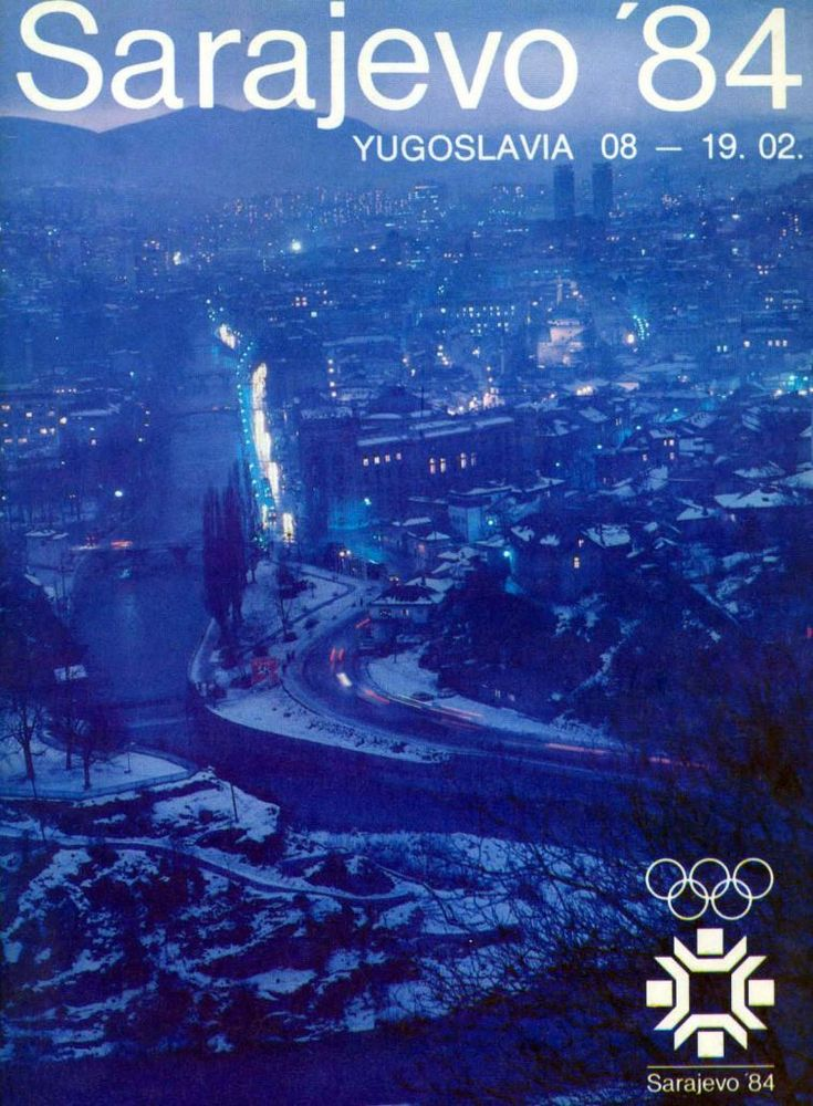 XIV Olympic Winter Games - Sarajevo 1984 - Official Poster