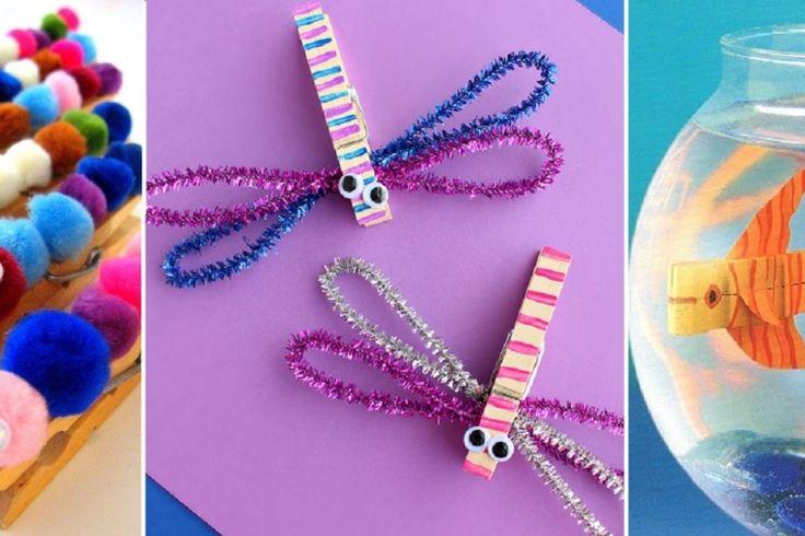 26 bricolages pour enfant à faire avec des épingles à linge!