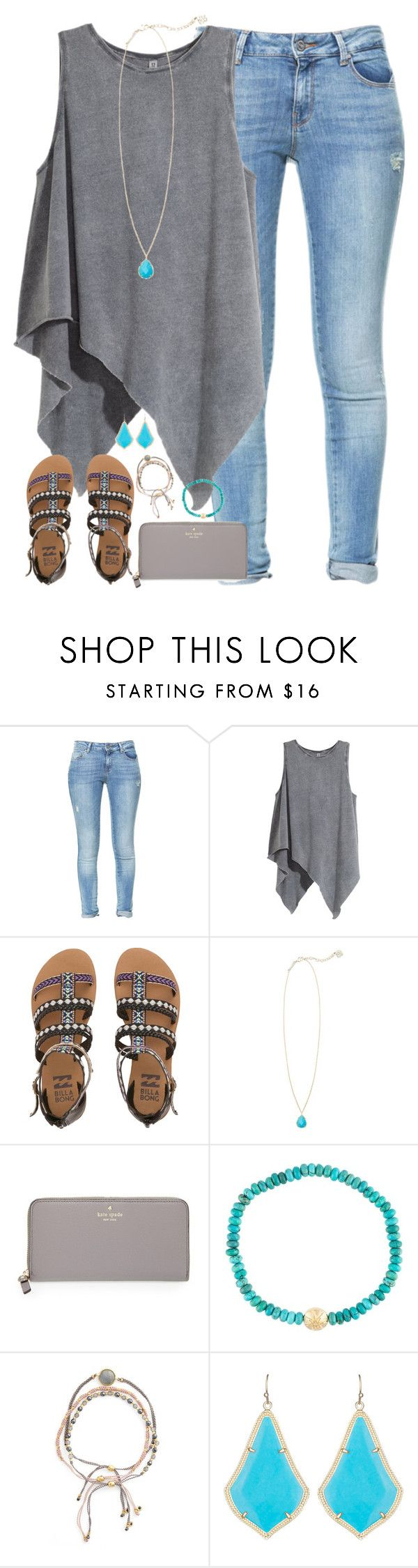 whaaaaaat by kaley-ii ❤ liked on Polyvore featuring Zara, HM, Billabong, Kendra Scott, Kate Spade, Luis Morais and Astley Clarke