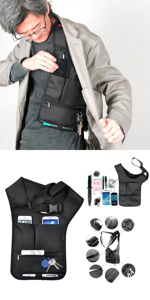 US$9.93 Hidden Oxter Invisible Crossbody Bag Multi-functional Burglarproof Storage Bag