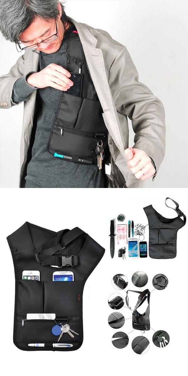 US$9.93 Hidden Oxter Invisible Crossbody Bag Multi-functional Burglarproof Storage Bag