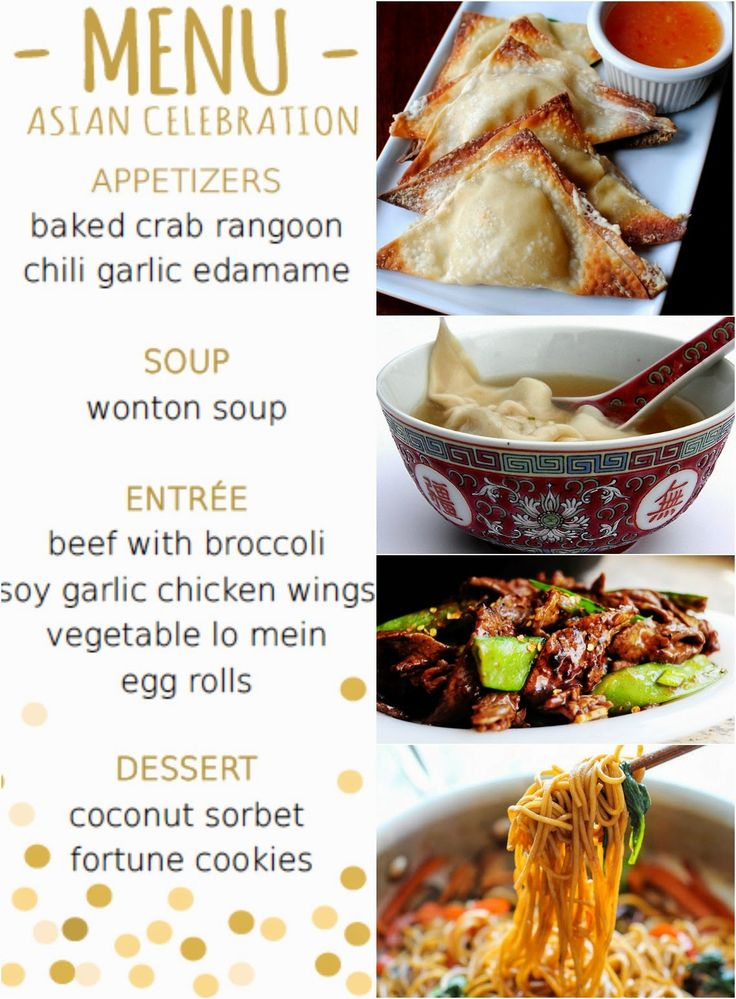 Chinese Dinner Party Ideas Part - 23: Asian Themed Dinner Party Menu