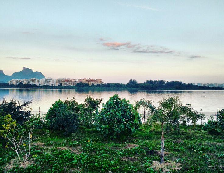 Vista da arena Olímpica, Lagoa do Jacarepaguá Rio de Janeiro. Rio Arena