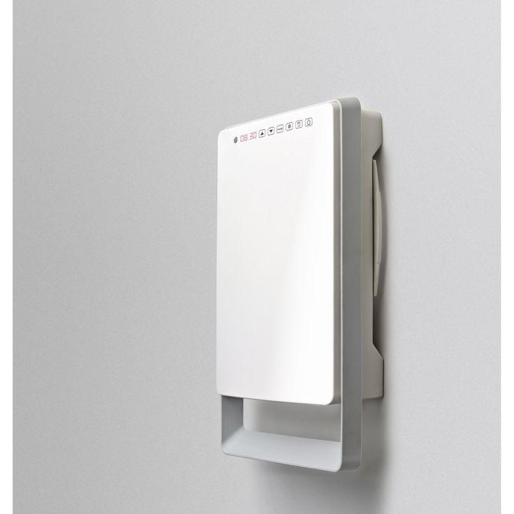 Radiateur soufflant salle de bain fixe électrique AURORA Touch gris 1800 W   Leroy Merlin