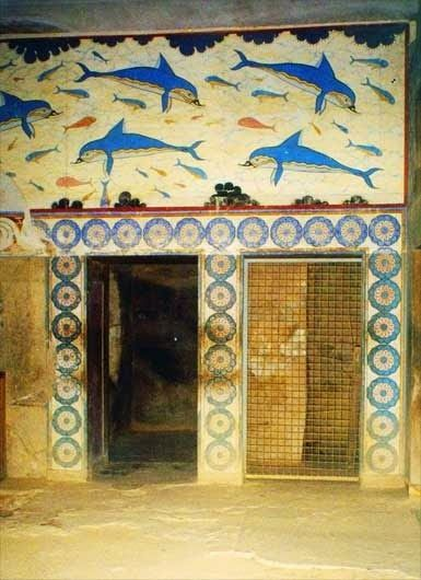 The Stream of Time: The Minoans: The Labyrinth - Picture of the dolphin fresco