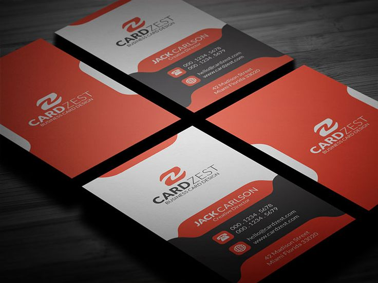 7 best business cards template images on pinterest business card an awesome template with modern curvy design elements this vertical layout has all the essential free business cardsmodern pronofoot35fo Choice Image