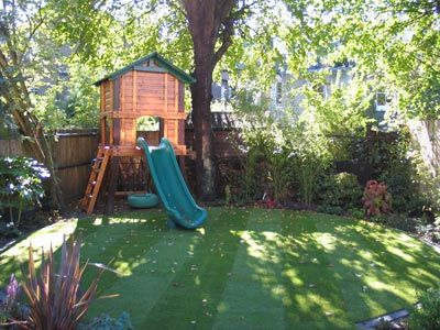 love the simplicity of this child friendly garden