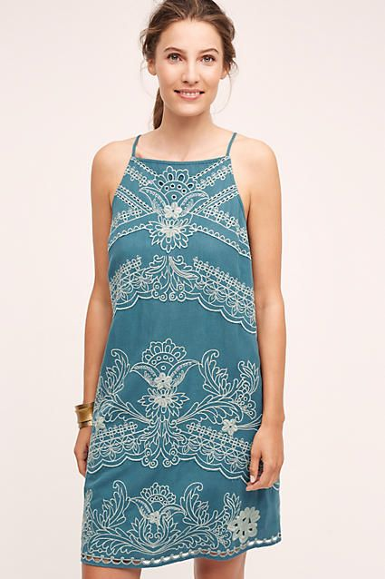 broderie lace swing dress