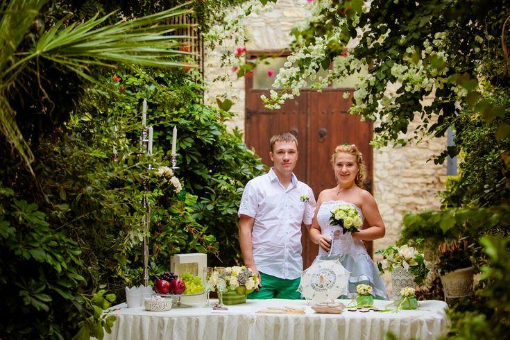 Wedding in Lefkara village. Very romantic place